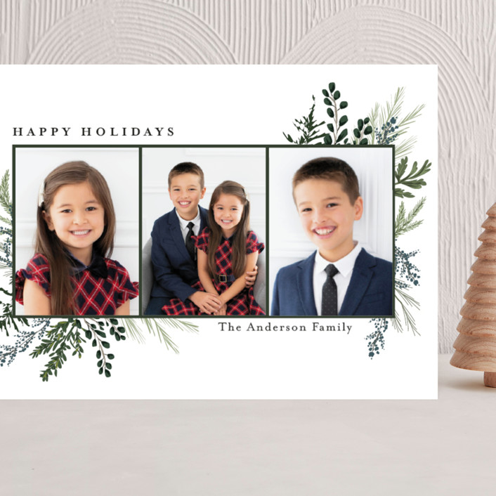 """Happy Holidays"" - Grand Holiday Cards in Pine by Susan Moyal."