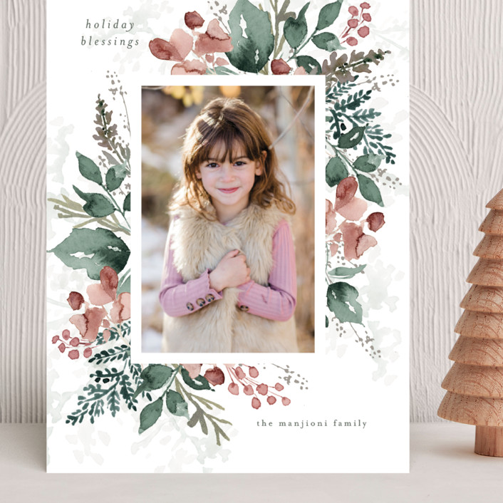 """Rejoice in Blessings"" - Grand Holiday Cards in Rose by Chris Griffith."