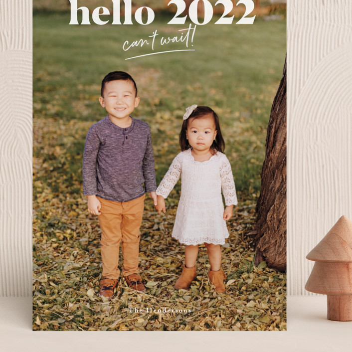 """""""can't wait 2021"""" - Grand Holiday Cards in Snow by Aspacia Kusulas."""