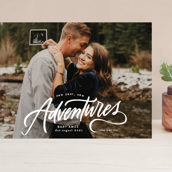 """""""New Year. New Adventures"""" - Grand Holiday Cards in Winter by Erin L. Wilson."""