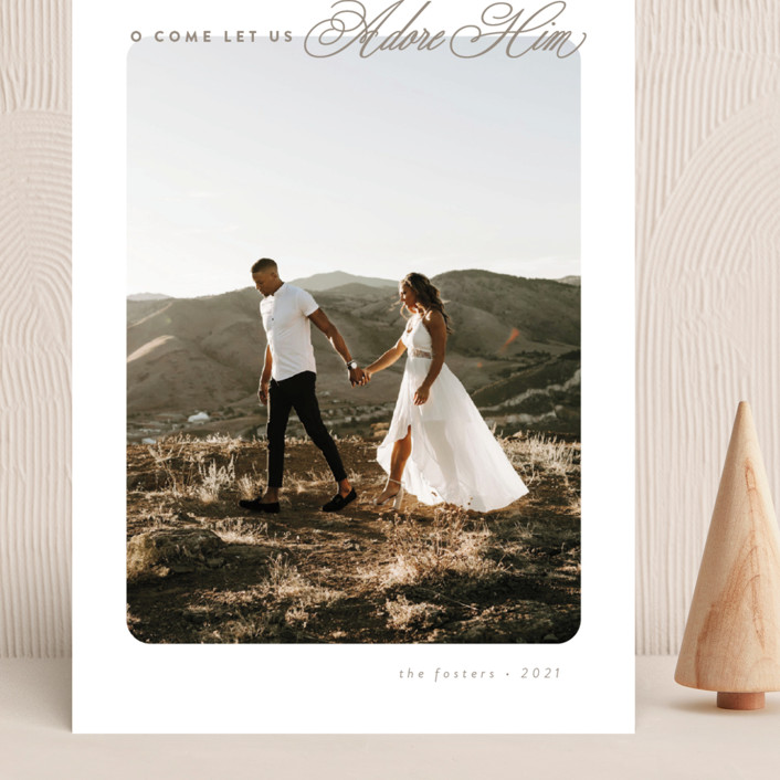 """""""O Come"""" - Grand Holiday Cards in Champagne by Brianne Larsen."""