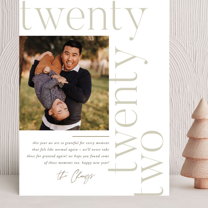 """Modern Letter"" - Grand Holiday Cards in Cloud by Robert and Stella."