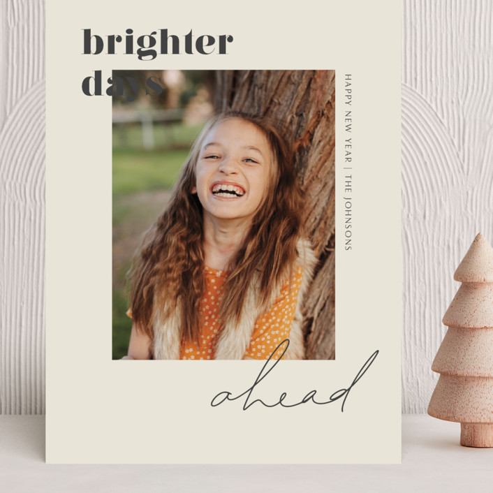 """Brighter Days Ahead"" - Grand Holiday Cards in Mist by seulghi."