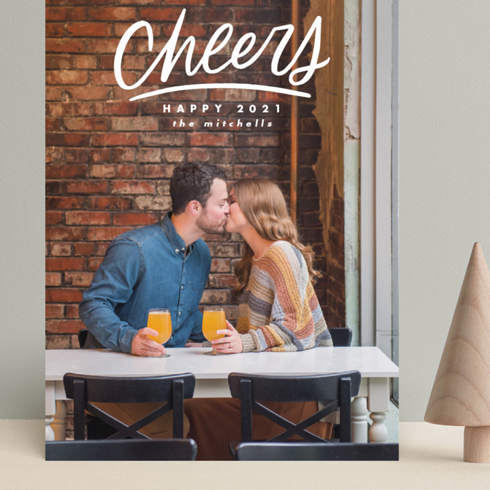 """""""Hand Lettered Cheers"""" - Grand Holiday Cards in Cotton by Ink and Letter."""