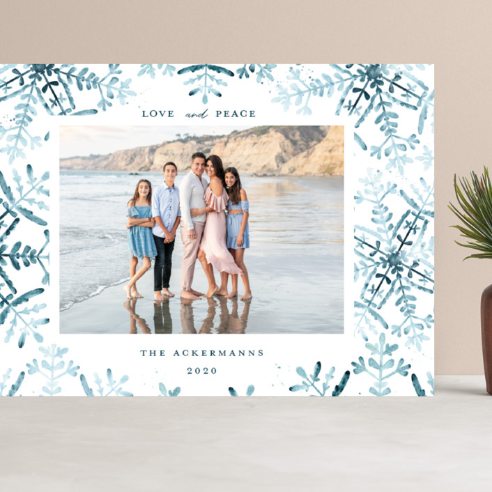 """""""Wintery Flurry"""" - Bohemian Grand Holiday Cards in Frosted by Angel Walker."""