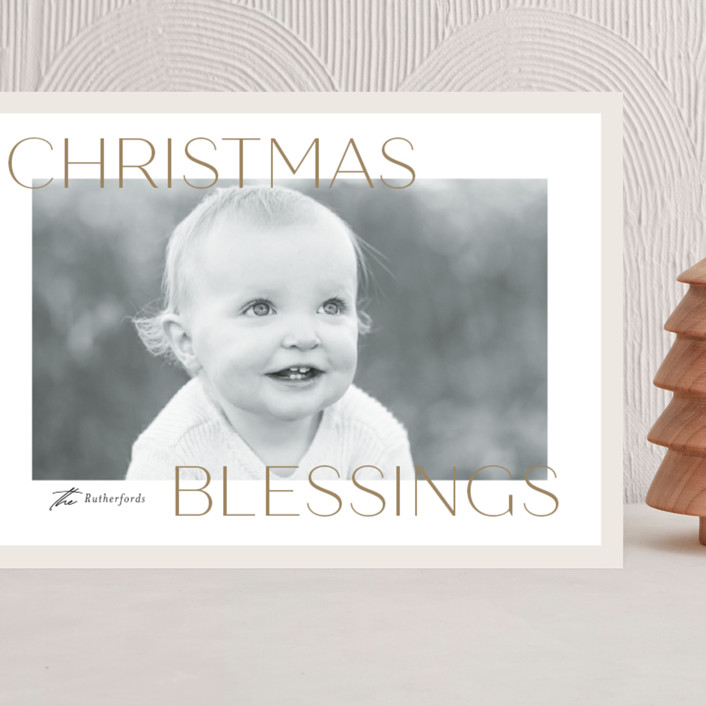 """""""Frosted Blessings"""" - Grand Holiday Cards in Toffee by Jessica Williams."""