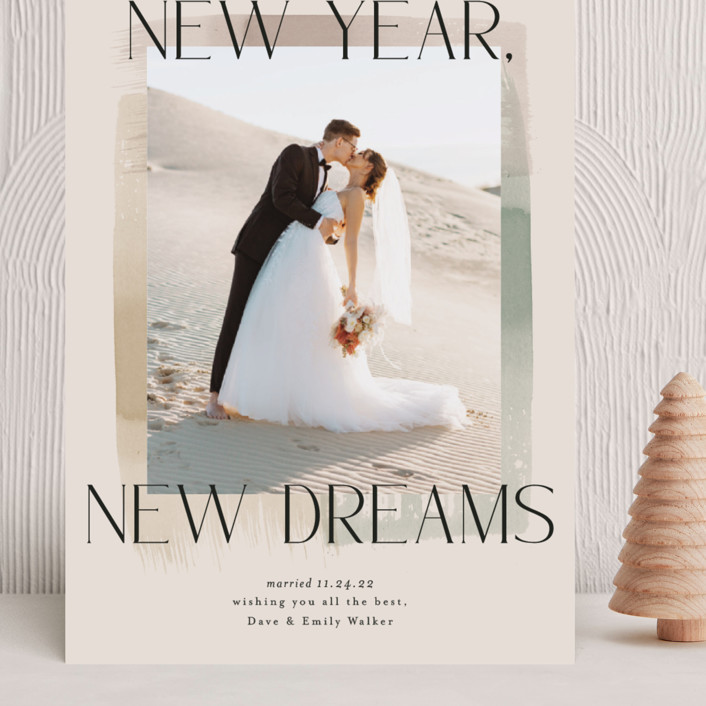 """""""New Year, New Dreams"""" - Grand Holiday Cards in Toffee by Alethea and Ruth."""