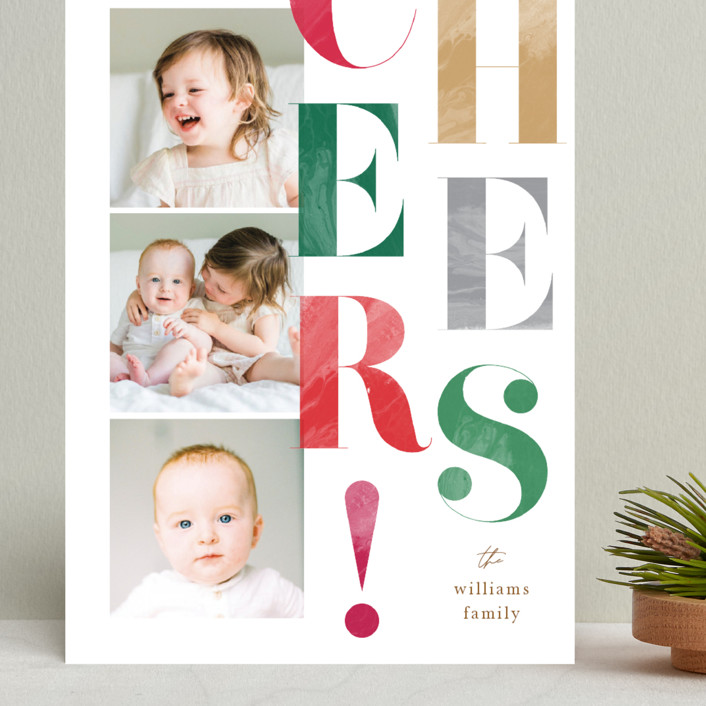"""""""Painted Type"""" - Grand Holiday Cards in Snow by Robert and Stella."""