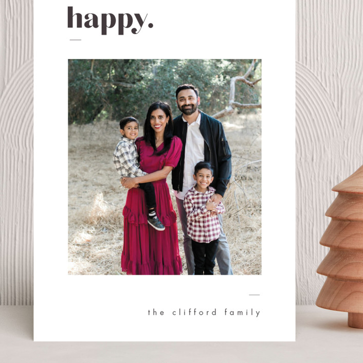 """""""Bold Merry"""" - Grand Holiday Cards in Ash by That Girl Press."""
