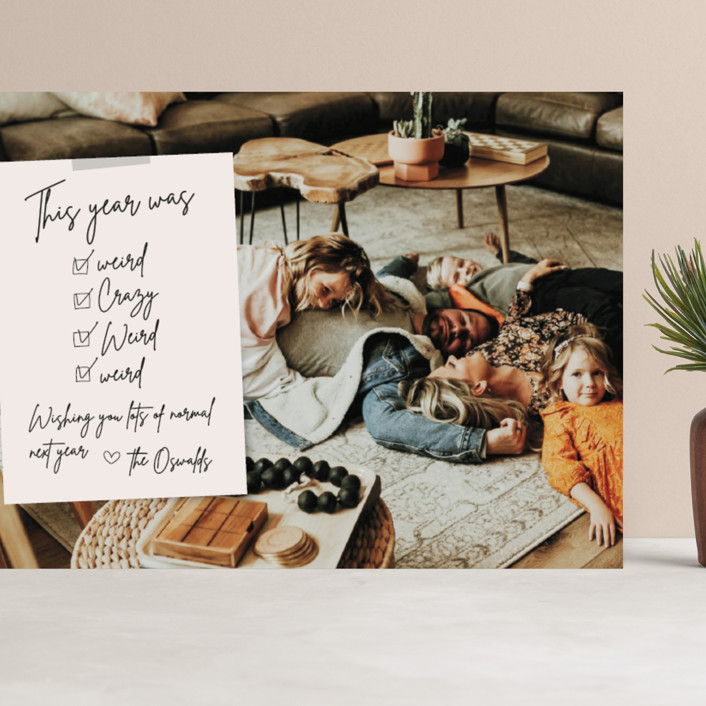 """""""Weird Note"""" - Funny Grand Holiday Cards in Natural by Danie Romrell."""
