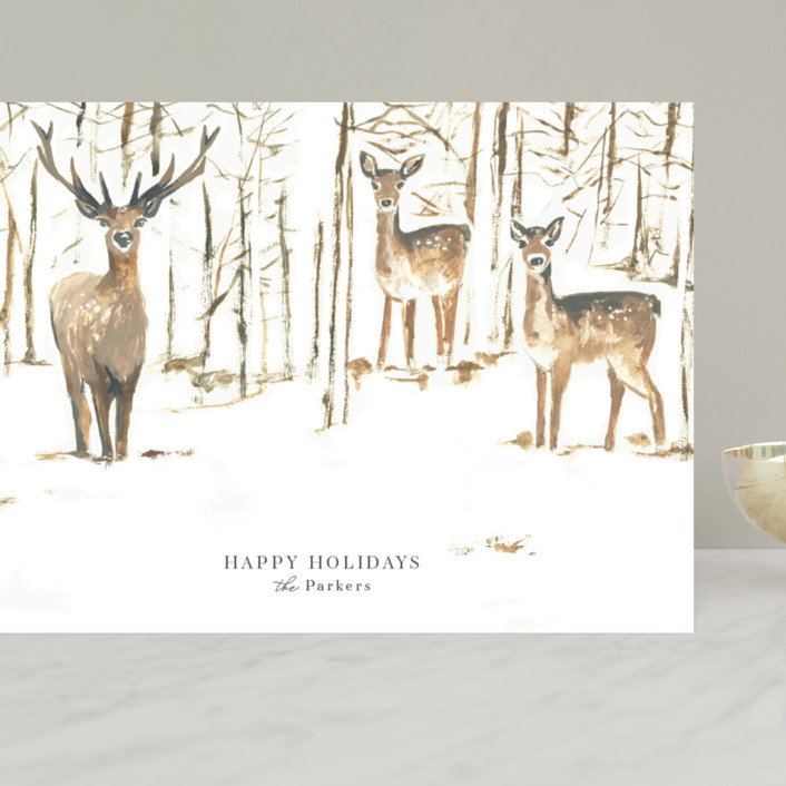 """Enchanted Forest"" - Bohemian Grand Holiday Cards in Halo by Teju Reval."