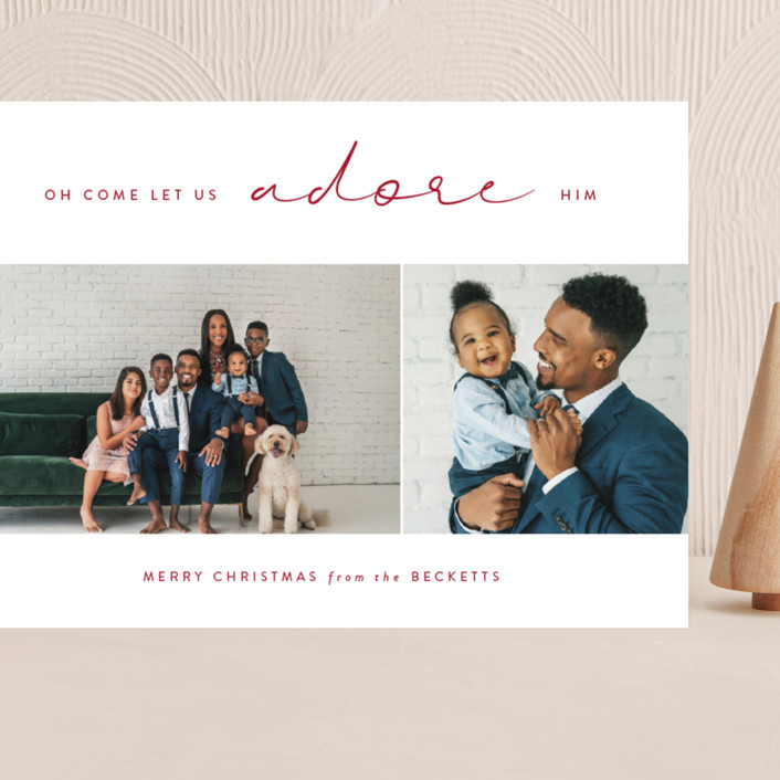 """""""Adored"""" - Grand Holiday Cards in Holly by Kasia Labocki."""