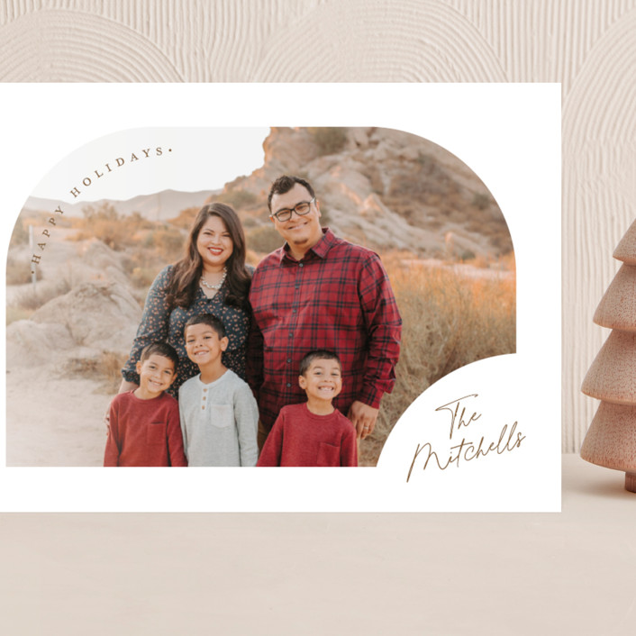"""""""Simply Arched"""" - Grand Holiday Cards in Snowflake by Jessica Williams."""