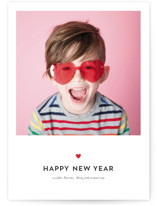This is a black holiday photo card by JoAnn Jinks called Sweet & Simple with standard printing on smooth signature in grand.