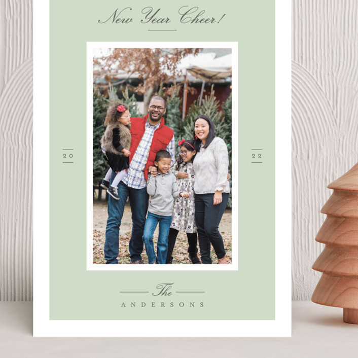 """""""Effortless Charm"""" - Grand Holiday Cards in Mist by Tatiana Nogueiras."""