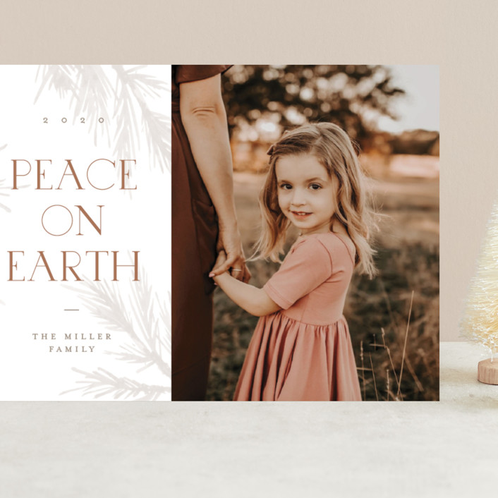 """All Peace"" - Grand Holiday Cards in Burnt by Pixel and Hank."