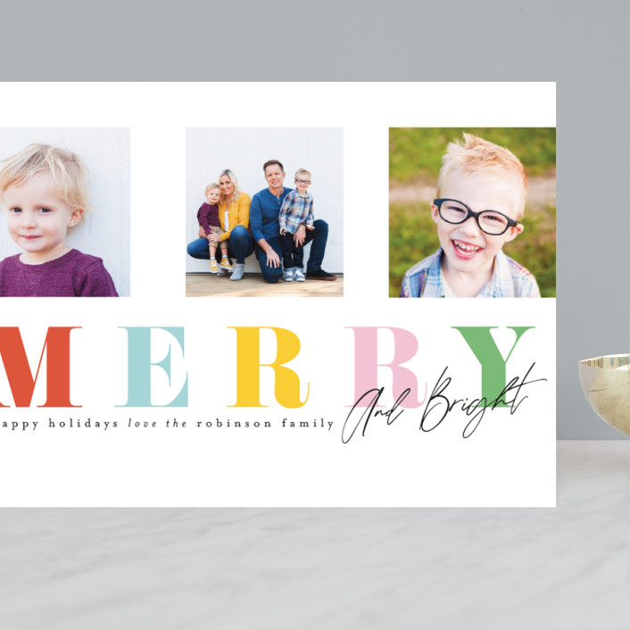 """""""Merry Trifecta"""" - Grand Holiday Cards in Gumdrop by Ashlee Townsend."""