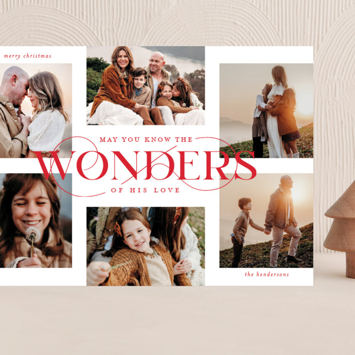 """Glorious Wonders"" - Grand Holiday Cards in Ruby by Lauren Chism."