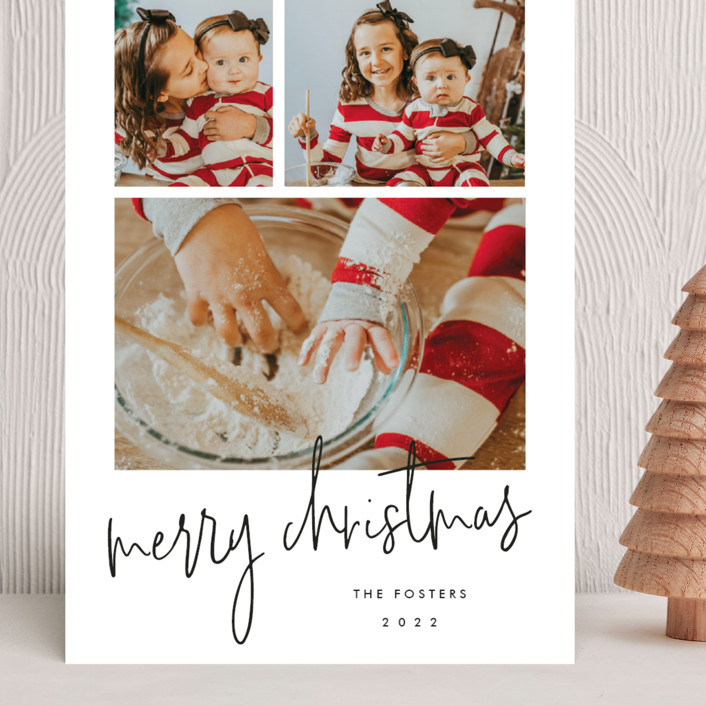 """""""Photo shoot"""" - Grand Holiday Cards in Cotton by Stacey Meacham."""