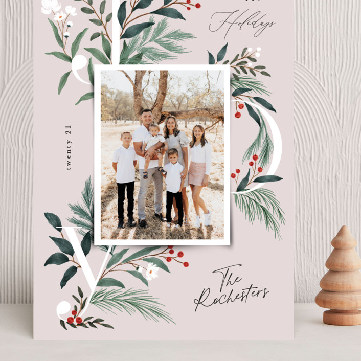 """""""Sweetest Joy"""" - Grand Holiday Cards in Blush by Elly."""