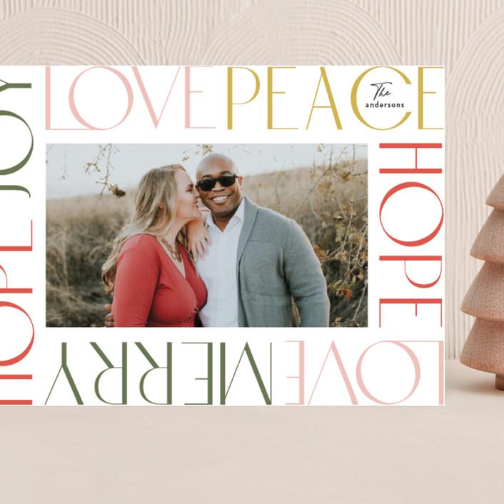 """Wordy Frame"" - Grand Holiday Cards in Festival by Phrosne Ras."