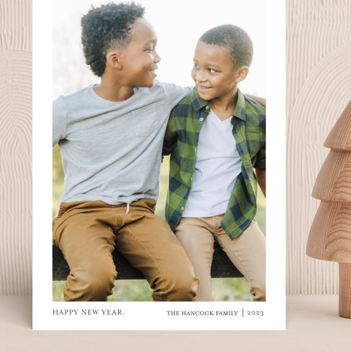 """Tiny Blessings"" - Grand Holiday Cards in Blueberry Pie by That Girl Press."