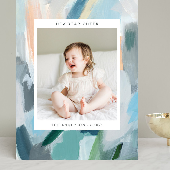 """""""Paint Palette Cheer"""" - Grand Holiday Cards in Pastel by Nicole Walsh."""