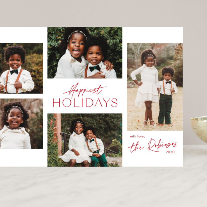 """""""Signature Collage"""" - Grand Holiday Cards in Cherry by Jessica Williams."""