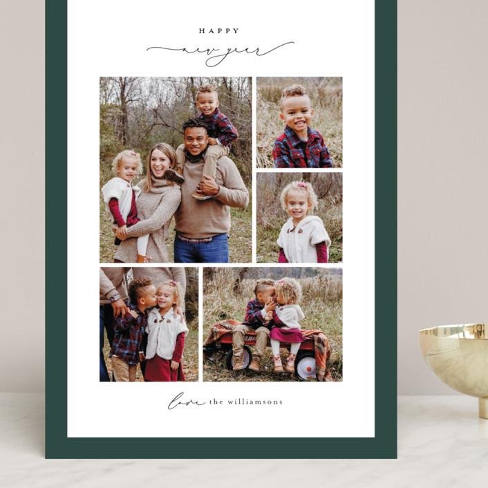 """""""Framed Collage"""" - Grand Holiday Cards in Pine by Ekko Studio."""