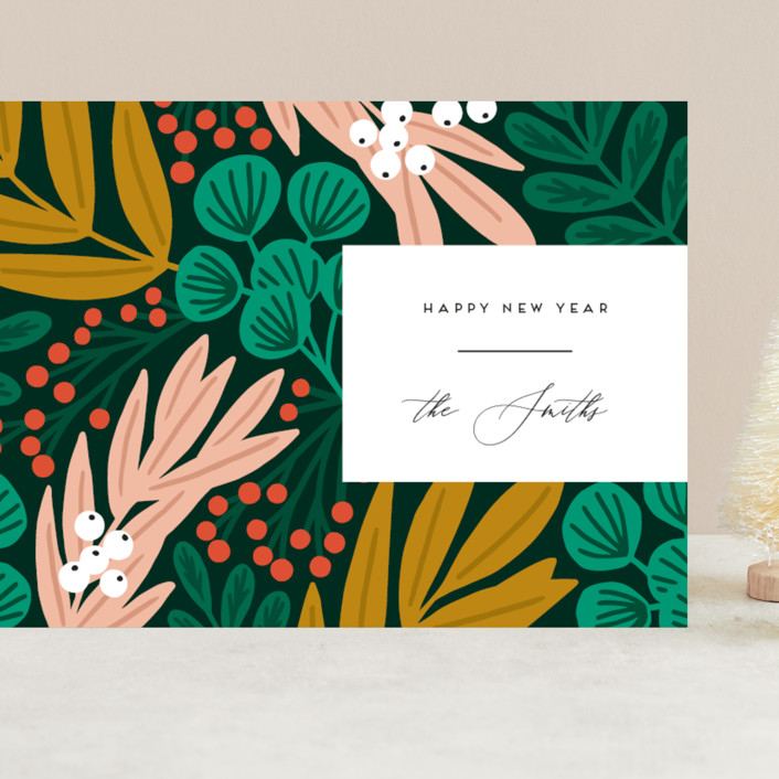 """""""The Garden"""" - Modern Grand Holiday Cards in Forest by Genna Blackburn."""