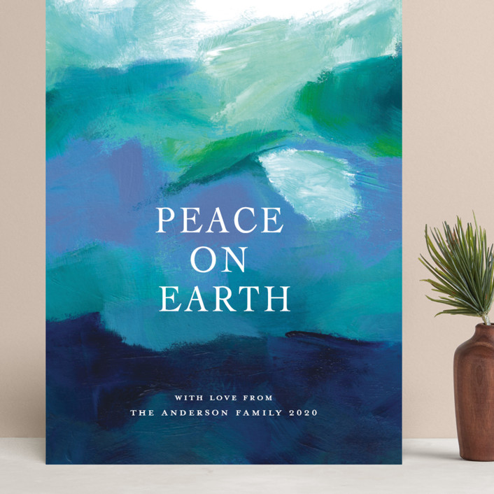 """""""Peaceful Earth"""" - Grand Holiday Cards in Ocean by Jenny Partrite."""