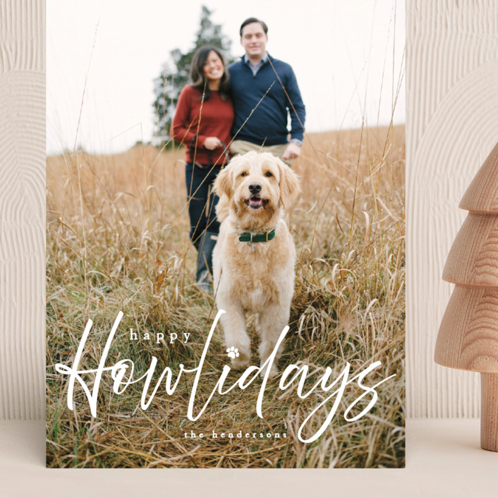 """""""Howliday"""" - Funny Grand Holiday Cards in Bone by Vanessa Doyle."""