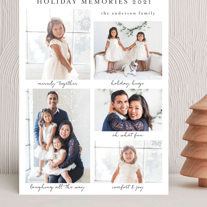 """""""Holiday Memories"""" - Grand Holiday Cards in Snow by Susan Moyal."""