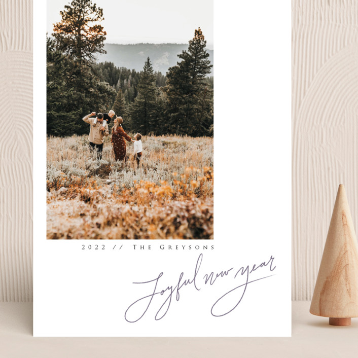 """""""In Pencil"""" - Grand Holiday Cards in Tinsel by Adelyn T.."""
