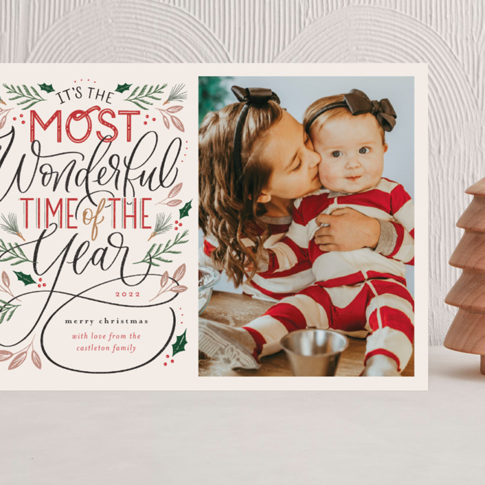 """""""The Most Wonderful"""" - Vintage Grand Holiday Cards in Cozy by Erin German."""