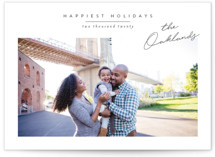 This is a white holiday photo card by Jessica Williams called Noted with standard printing on smooth signature in grand.