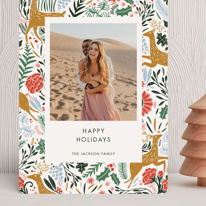 """""""Holiday Forest Photo"""" - Bohemian Grand Holiday Cards in Jour by Made by Mosa."""