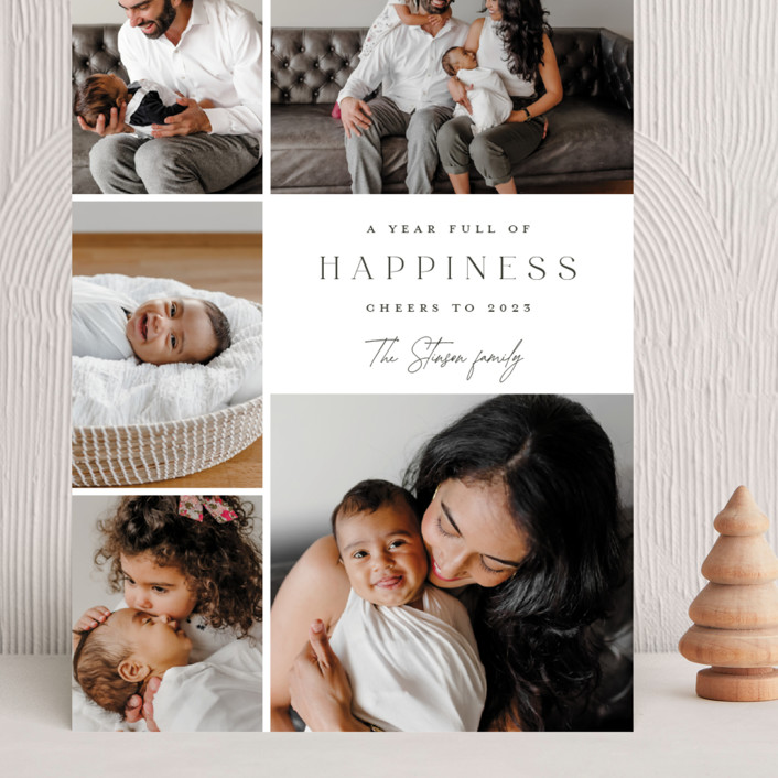 """""""Full of happiness"""" - Grand Holiday Cards in Snow by Yaling Hou Suzuki."""