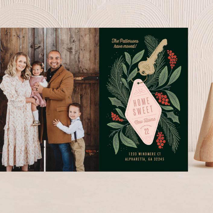 """""""Home Sweet new Home"""" - Grand Holiday Cards in Pine by Kristen Smith."""