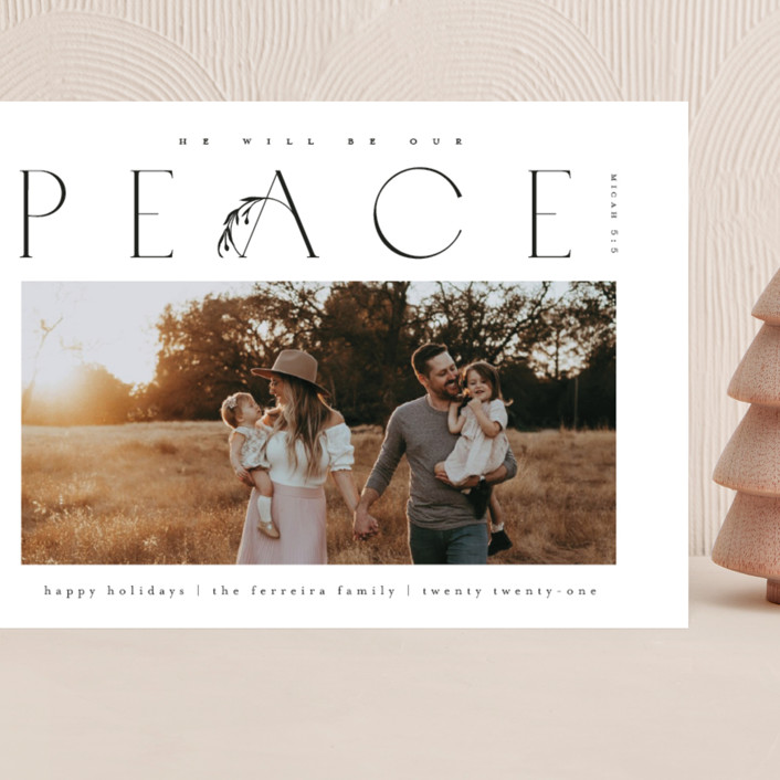 """""""He'll be our peace"""" - Grand Holiday Cards in Ink by Ana de Sousa."""