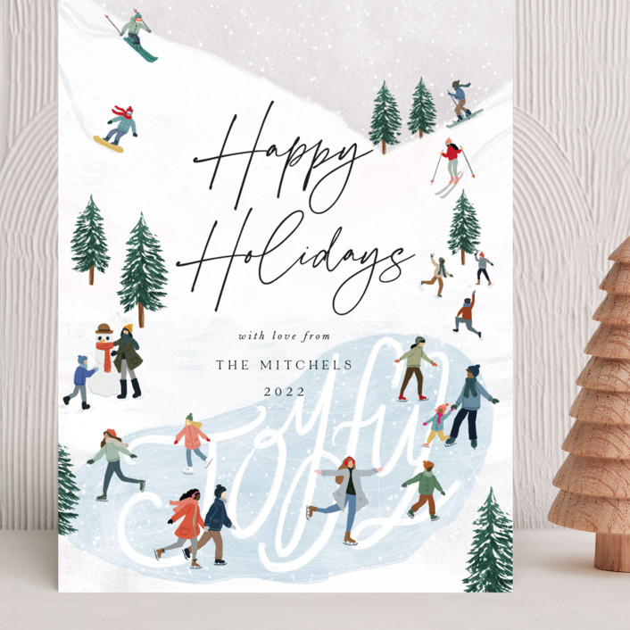 """""""Snow Adventure"""" - Vintage Grand Holiday Cards in Snow by Elly."""