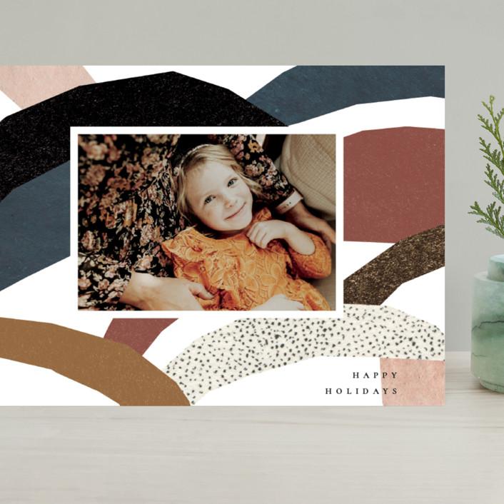 """imaginary hills"" - Modern Grand Holiday Cards in Rainbow Rock by Sumak Studio."