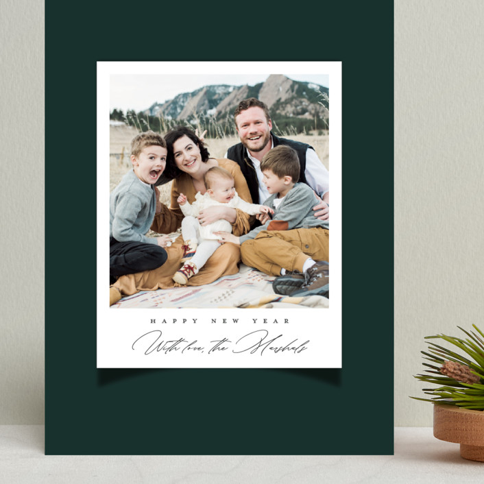 """""""Snap"""" - Vintage Grand Holiday Cards in Spruce by Up Up Creative."""
