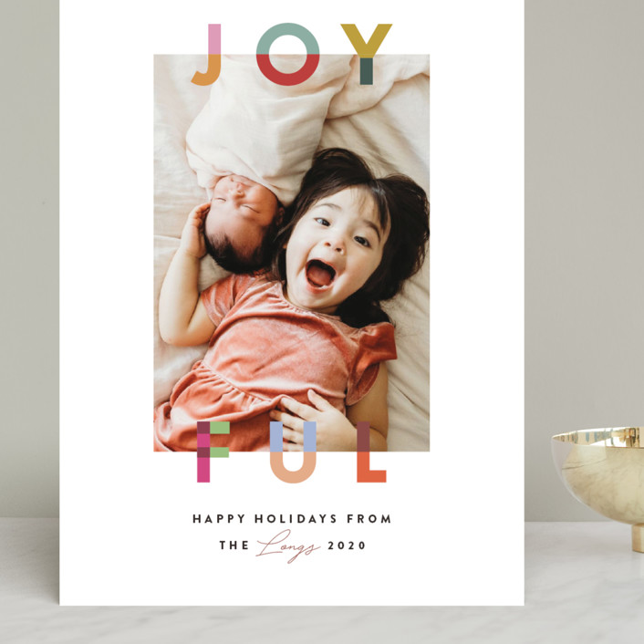 """Joyful Blocks"" - Grand Holiday Cards in Gumdrop by Julie Murray."