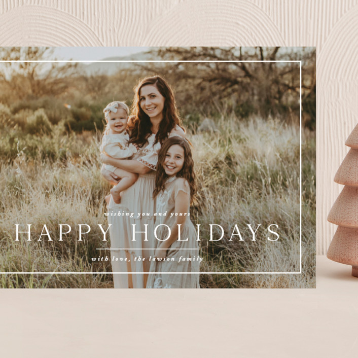 """""""Framer"""" - Grand Holiday Cards in Snow by Amy Kross."""
