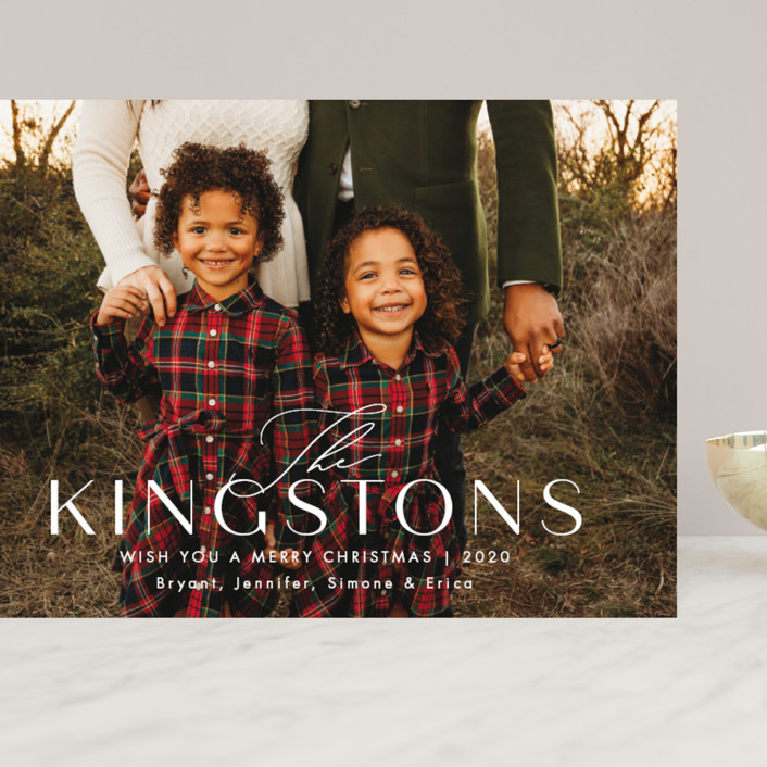 """""""Kingston"""" - Grand Holiday Cards in Snow by Amy Kross."""
