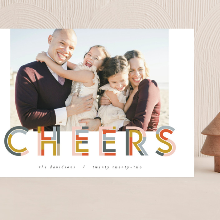 """""""Chunk Cheers"""" - Grand Holiday Cards in Party by Pixel and Hank."""