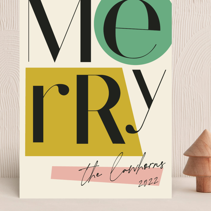 """""""All That Jazz"""" - Modern Grand Holiday Cards in Mint by Morgan Kendall."""