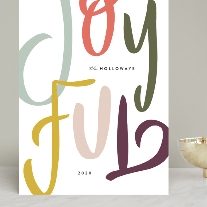 """""""Hand Lettered"""" - Grand Holiday Cards in Pine by Julie Murray."""