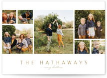 This is a brown holiday photo card by Erin L. Wilson called Collection with standard printing on smooth signature in grand.